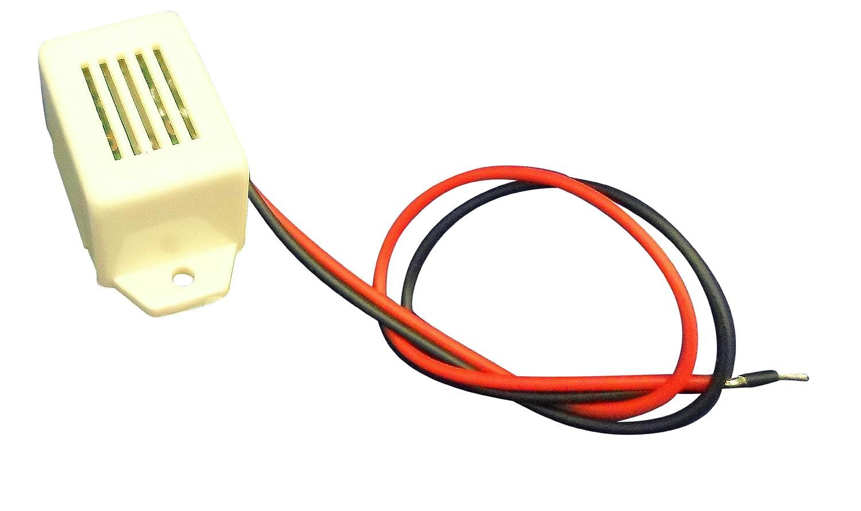Ajax Scientific El284– 0045 magné tique rectangulaire Mini Signal sonore avec fil de plomb, 4,5 V 5V Ajax Scientific Ltd EL284-0045
