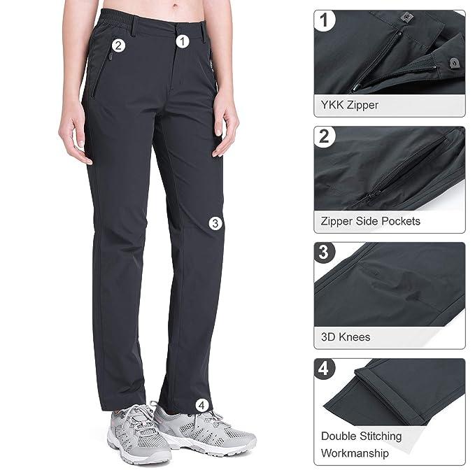 CAMEL CROWN Pantalones Acampada Trekking Outdoor para Hombre Secado R/ápido Senderismo Primavera Verano con Cintur/ón