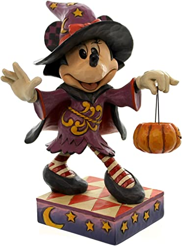 Jim Shore for Enesco Disney Traditions by Minnie Mouse as Witch Figurine, 6.5
