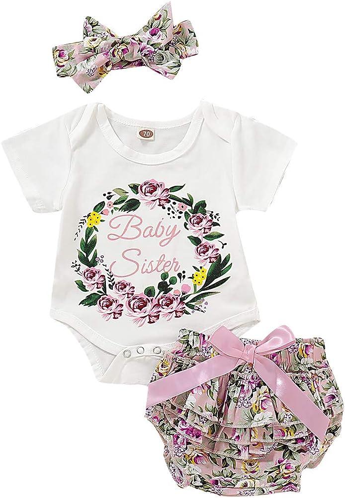 Amazon.com: 3 camisas de manga corta para niña + volantes ...