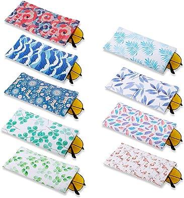 Gadgets Shintop Rojo//Negro//Amarillo//Azul con 8 pa/ños de Limpieza de Microfibra para Gafas Juego de 8 Bolsas para Gafas de Sol con cord/ón Suave