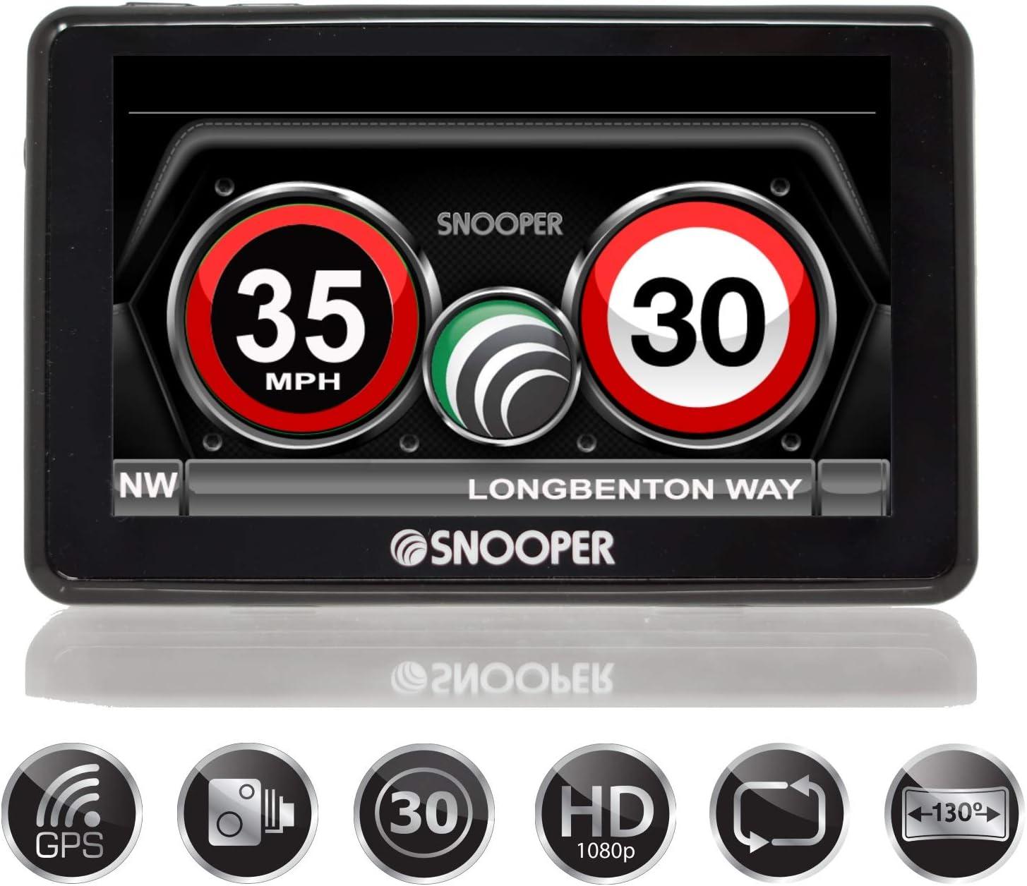Snooper My Speed Dvr G3 Geschwindigkeits Und Blitzerwarner Mit Integrierter Dash Cam Navigation