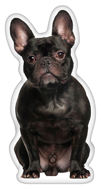 iLeesh French Bulldog Black Shaped Pillow