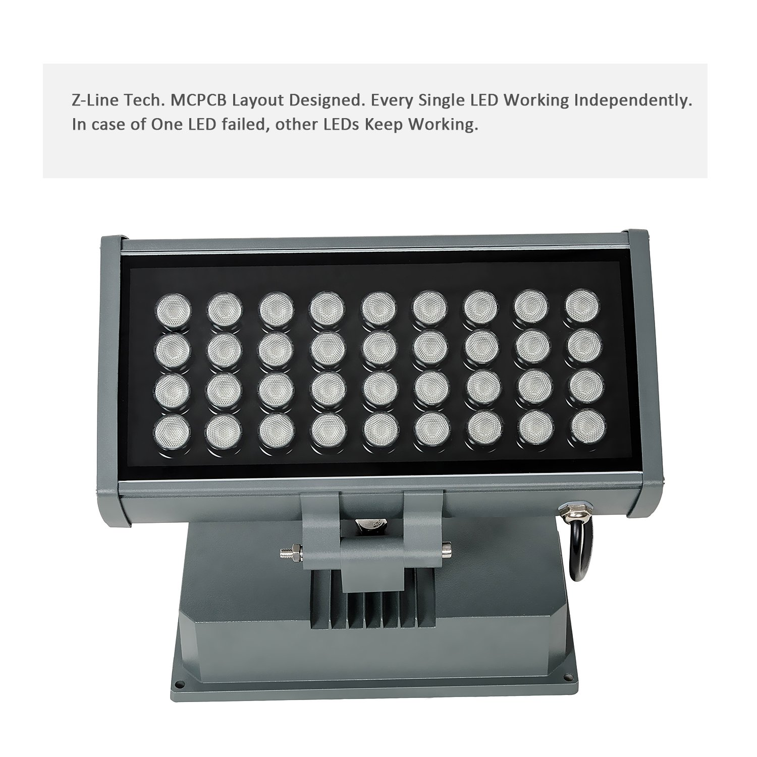 H-TEK 108W RGBW LED Wall Washer Light with RF Remote Controller, Color Changing LED Flood Light for Outdoor/Indoor Lighting Projects Hotels, Resorts, Casinos, Billboards, Building Decorations, Parties by H-TEK (Image #5)