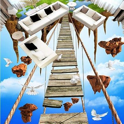 Dalxsh 3D Estéreo Cielo Isla Vacía Aventura Cuerda Puente Piso ...