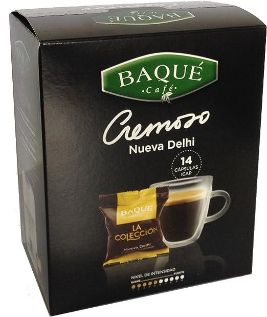 Cafés Baqué Cápsulas La Colección Nueva Delhi - 98 gr: Amazon.es ...