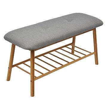 Sitzbänke Holz limal sitzbank holz grau 42 x 84 x 33 cm amazon de küche haushalt