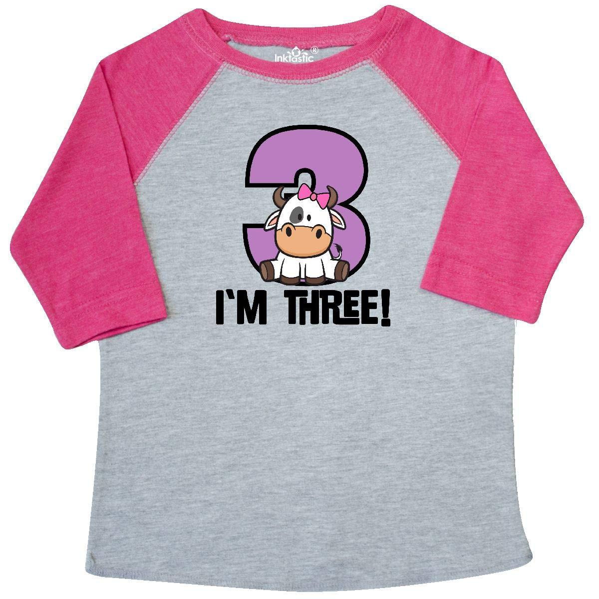 inktastic 3rd Birthday Farm Party Girl Cow Toddler T-Shirt