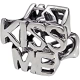 Kiss Me Sterling Silver Bead - Double Sided