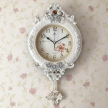 KKLOCK Wanduhr Uhr Wanduhren Lautlos für Wohnzimmer Büro Schlafzimmer  Badezimmer Küche Kinderzimmer Einfache Runde Retro Nostalgie Vintage ...