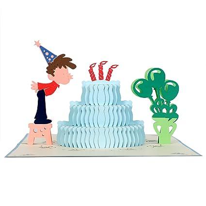 Amazon CutePopup Birthday Cake 3D Pop Up Cards Boy