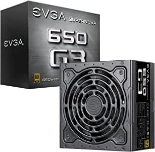 EVGA SuperNOVA 650 G3, 80 Plus Gold 650W, Fully Modular, Eco Mode with New HDB Fan, 7 Year Warranty, Includes Power ON Self Tester, Compact 150mm Size, Power Supply 220-G3-0650-Y1