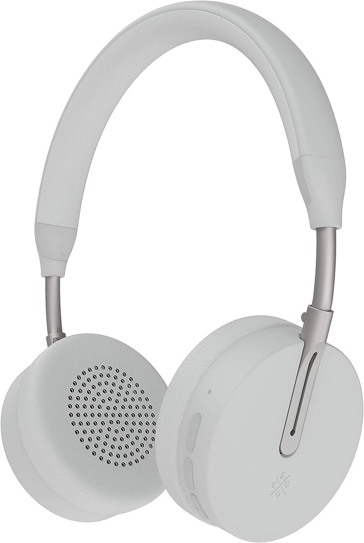 Kygo Life A6 500 On-Ear Bluetooth Headphones, aptX and AAC Codecs, Built-in Microphone, NFC Pairing, Memory Foam Ear Cushions, 18 Hours Playback, Kygo Sound App, Pro Line White