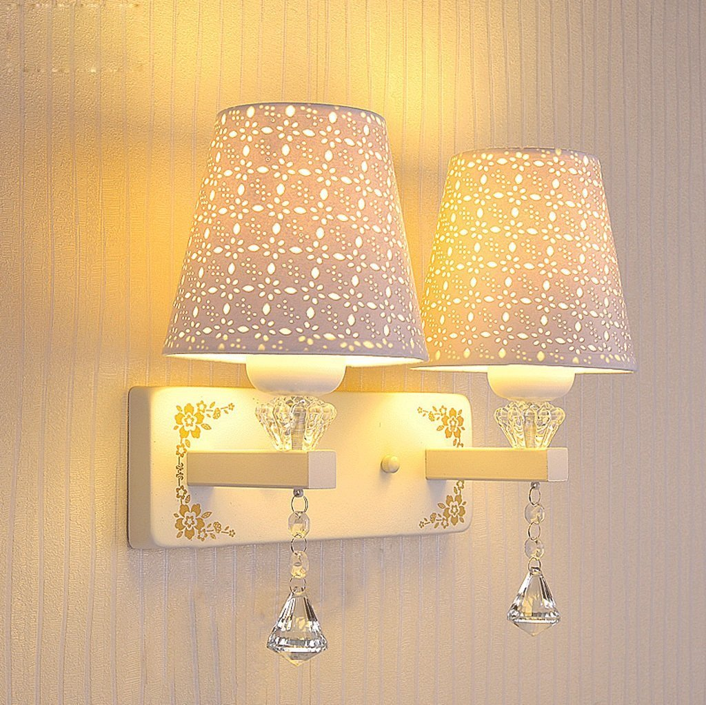 HOMEE Wall lamp- bedside led wall lamp modern minimalist bedroom cozy single crystal stud wall lamp aisle stairs living room wall lamp --wall lighting decorations ( design : 1p ),2P by HOMEE