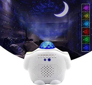 Dongzhen Ocean Wave Projector Light with Moon Star & Voice Control