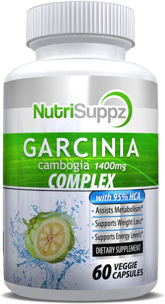 100 Pure Garcinia Cambogia 95 HCA Ultra 1400mg, Appetite Suppressant, Weight Loss, Belly Fat Burner, Weight Loss Pills, Lose Weight Fast for Men Women, Fat Burner, Diet Pills