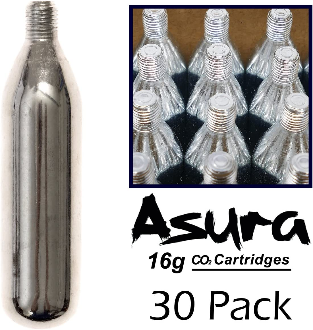 Asura 16 Gram CO2 Threaded Cartridges