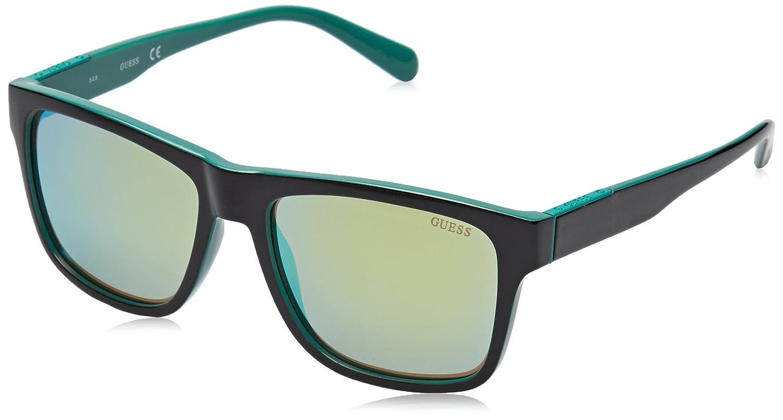 Guess Herren Sonnenbrille GU6882, Schwarz (Nero/Rosso), 56