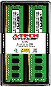 A-Tech 16GB (2X 8GB) RAM for DELL POWEREDGE R630 s | DDR4 2133MHz ECC-RDIMM PC4-17000 1Rx4 1.2V 288-Pin ECC Registered Server Memory Upgrade Kit