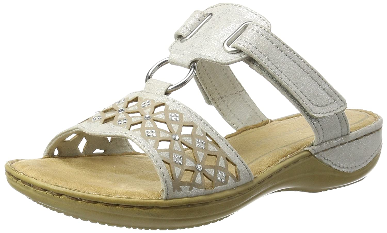 Marco Tozzi 27501, Sandales Ouvert Bout 4333 Ouvert Femme (White Blanc (White Metallic 151) a1177cb - fast-weightloss-diet.space