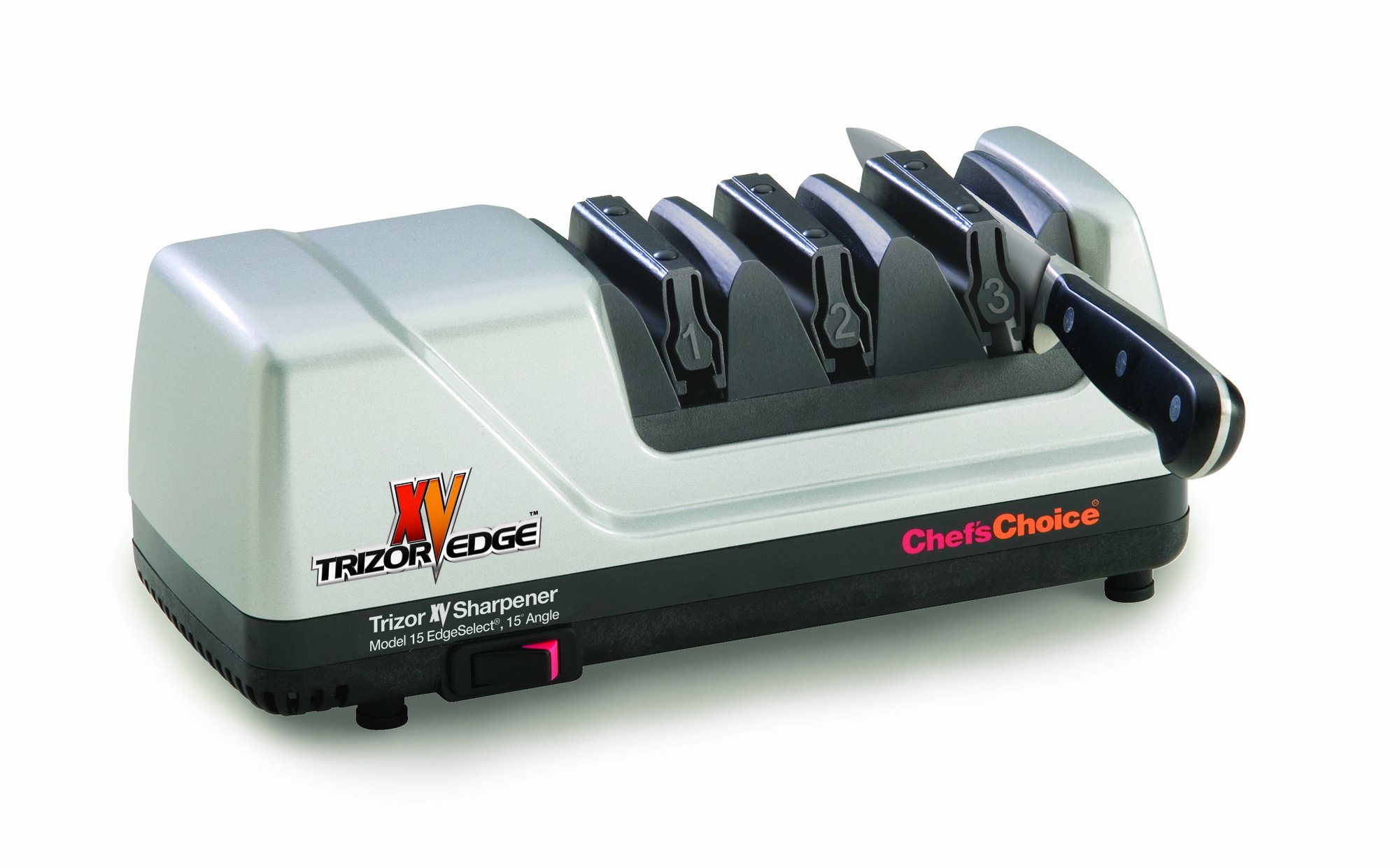 Chef's Choice 15 Trizor XV Edgeselect Electric Knife Sharpener, Brushed Metal by Chef'sChoice