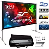 """Elite Screens Yard Master 2, 90 inch Outdoor Projector Screen with Stand 16:9, 8K 4K Ultra HD 3D Fast Folding Portable Movie Theater Cinema 90"""" Indoor Foldable Easy Snap Projection Screen OMS90H2"""