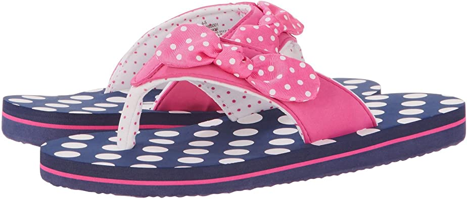 New Wonder Nation Toddler Girl  Pink Heart Slippers Size 2-3