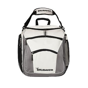 a1569d9145c34 Brubaker Skischuhtasche PROFESSIONAL für Schuhe und Helm mit Rucksack- Tragegurten und Schaum-Rückenpolster Silber