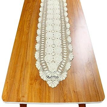 Amazon.com: Yazi - Camino de mesa rectangular hecho a mano ...