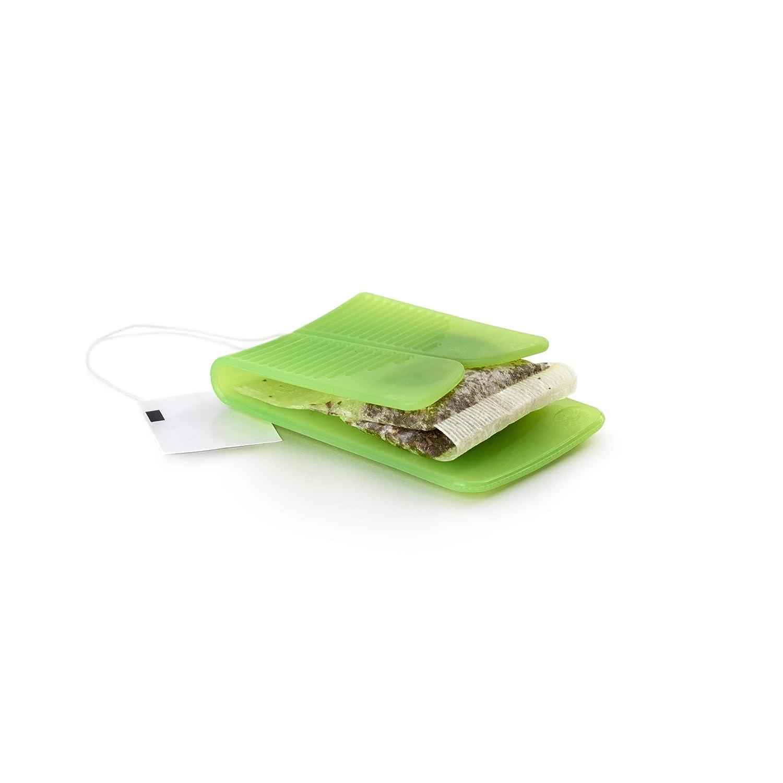 Lékué Exprimidor para bolsitas de te o infusión, Silicona, Verde: Amazon.es: Hogar