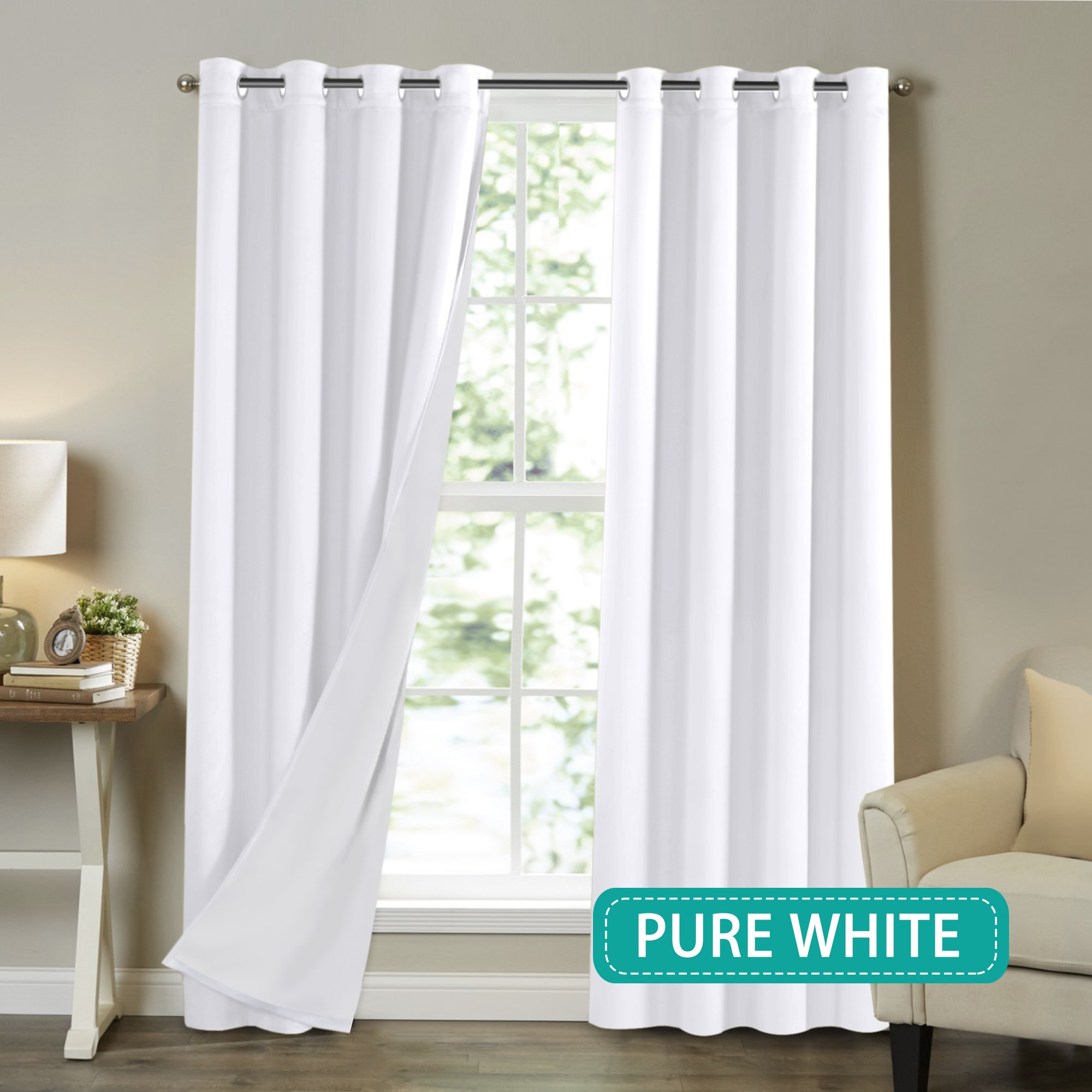 Pure White Curtains