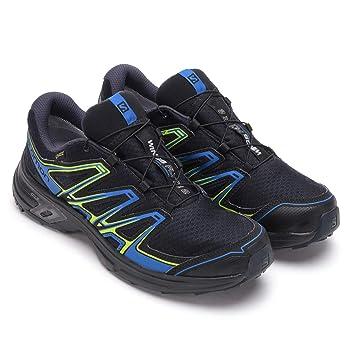 a6581102cce0 Salomon Homme Wings Flyte 2 GTX Chaussures de Trail Running, Imperméable,  Noir/Bleu