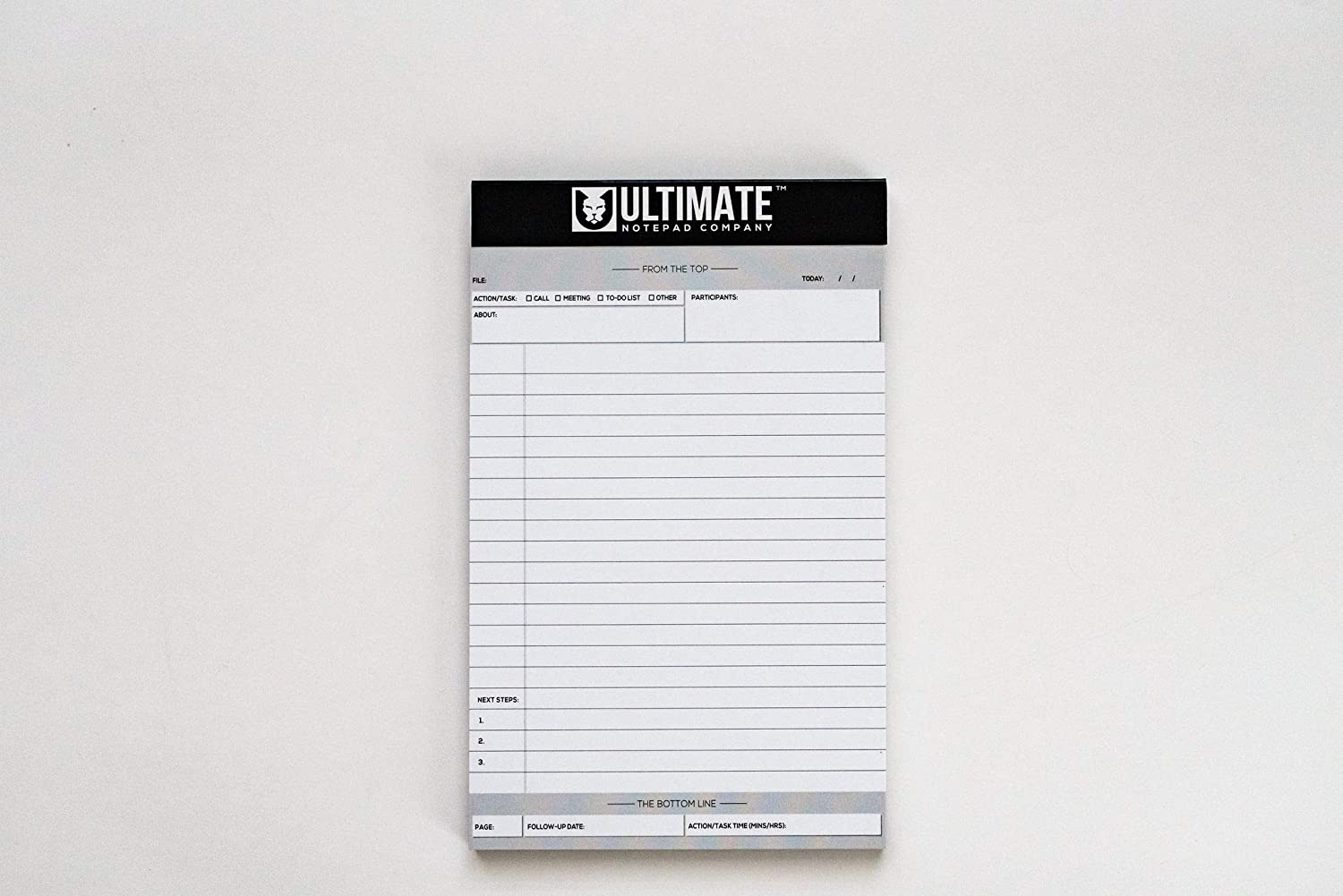 """Junior Ultimate Legal Pad 5 PACK (White - 5"""" x 8"""") Professional List Writing and Organizational Support 