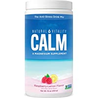 Natural Vitality Calm, #1 Selling Magnesium Supplement, Anti-Stress Drink Mix Powder, Raspberry Lemon - 16 Ounce