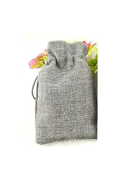 Bolsa de yute de lino con cordón, 50 unidades, colores ...