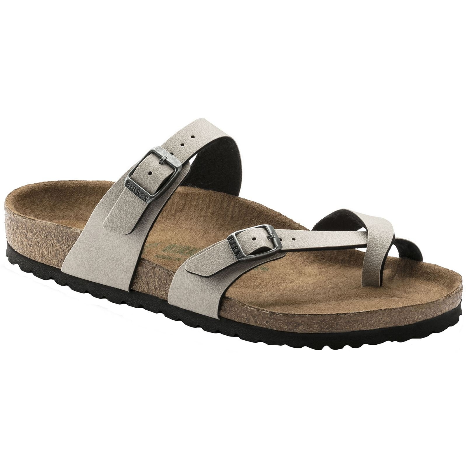 cfe73545c17 Galleon - Birkenstock New Women s Mayari Vegan Sandal Pull Up Stone 39 R