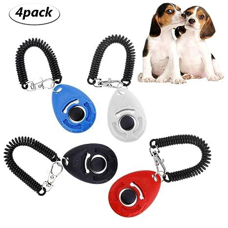 WisFox Entrenamiento para Perros de Mascota Clicker Big Button clicker con banda de muñeca Strip for