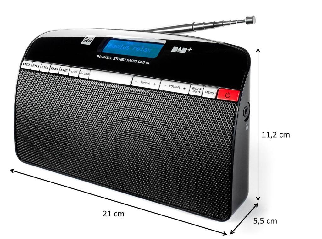 Dual DAB 14 Digitalradio (UKW/DAB+/DAB-Tuner ...