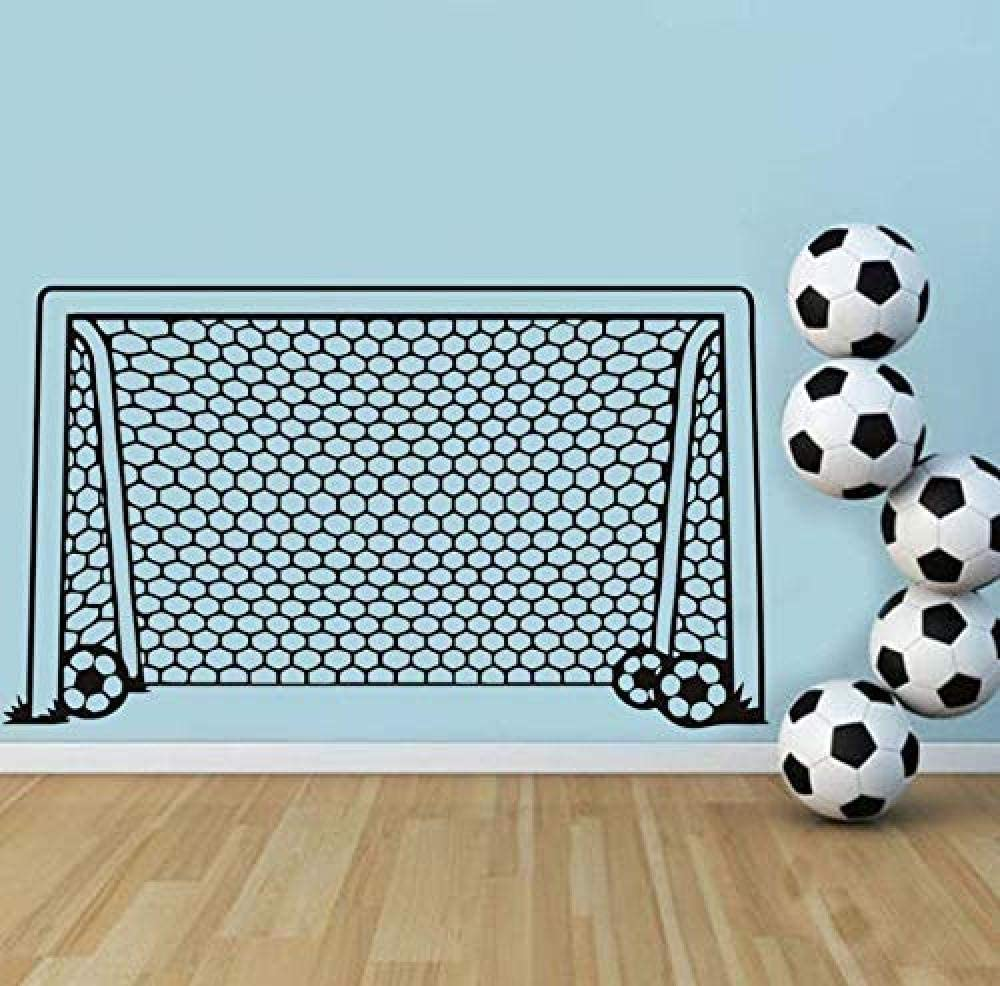 gykjf Wall Sticker Football Soccer Goal Net Ball Sport Wall Decal Vinyl Decor Art Wall Sticker for Boys Room Kids Nursery Home Decor Mural