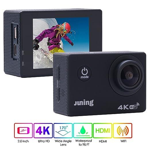 2 opinioni per Action Camera WiFI, Juning fotocamera Ultra Hd, 1080P, 170° grandangolare,
