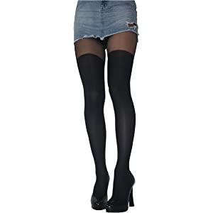 MOCK SUSPENDER STOCKINGS TIGHTS 40 20 DENIER NEW SIZE S M L