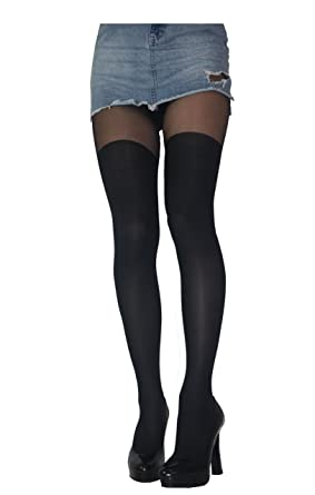 2aabdd7a86b46 MOCK SUSPENDER STOCKINGS TIGHTS 40/20 DENIER NEW SIZE S M L: Amazon.co.uk:  Clothing
