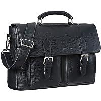 STILORD 'Owen' Maletín Ordenador Portatil Cuero Vintage Grande Bolso de Negocios Satchel Bag para Portátiles Bolsa…
