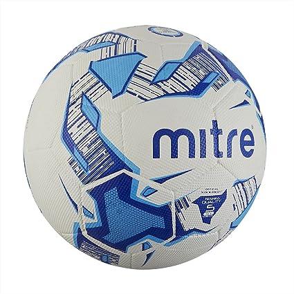 Mitre Balón de fútbol, Color White/Blue/Grey, tamaño Talla 4 ...