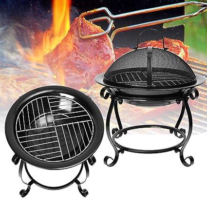 LaDicha Barbacoa Al Aire Libre Cocina Estufa Portátil De Picnic De Hierro Chimenea Calentador De Jardín
