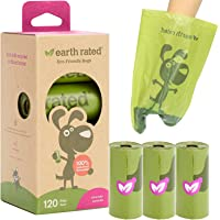 Earth Rated Dog Poop Bags, Extra Thick and Strong Poop Bags for Dogs, Guaranteed Leak-Proof, 8 Rolls, 15 Doggy Bags Per…
