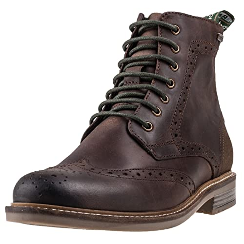 31bbe0bcc7c Barbour Mens Belsay Leather Chocolate Work Brogue Smart Office Boots ...
