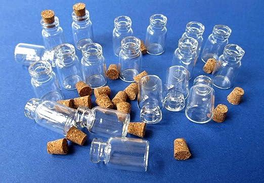 miniblings 20x Mini-corchos de Botellas de Botellas de Vidrio de 25 mm Mini: Amazon.es: Hogar
