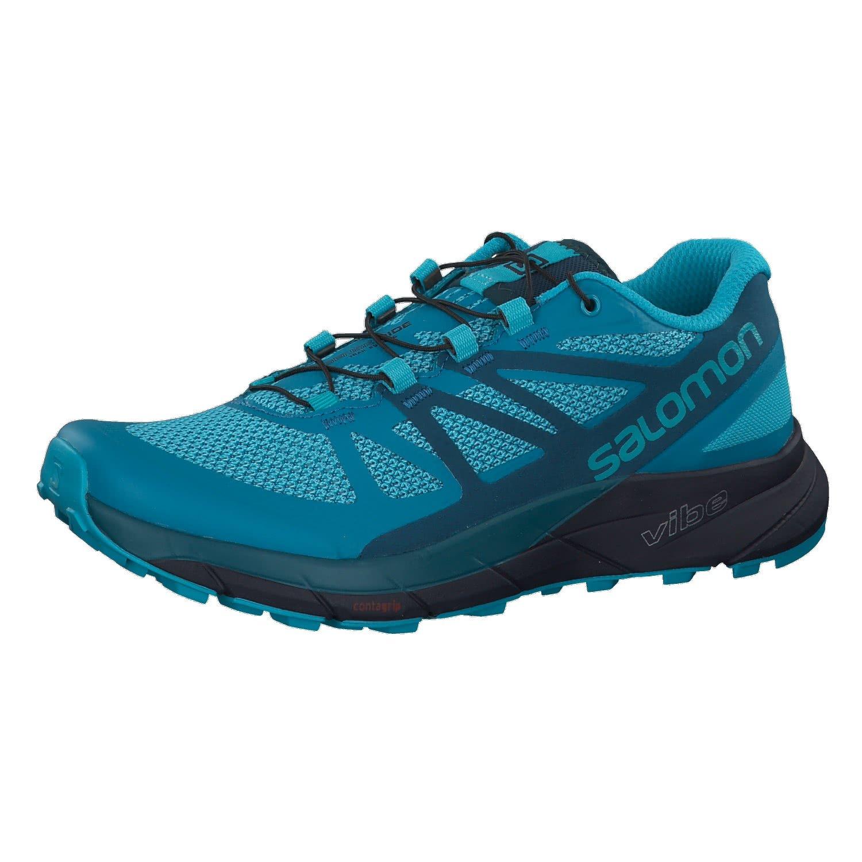 Salomon Women's Sense Ride Trail Running Shoes Blue Bird / Deep Lagoon / Navy Blazer 12