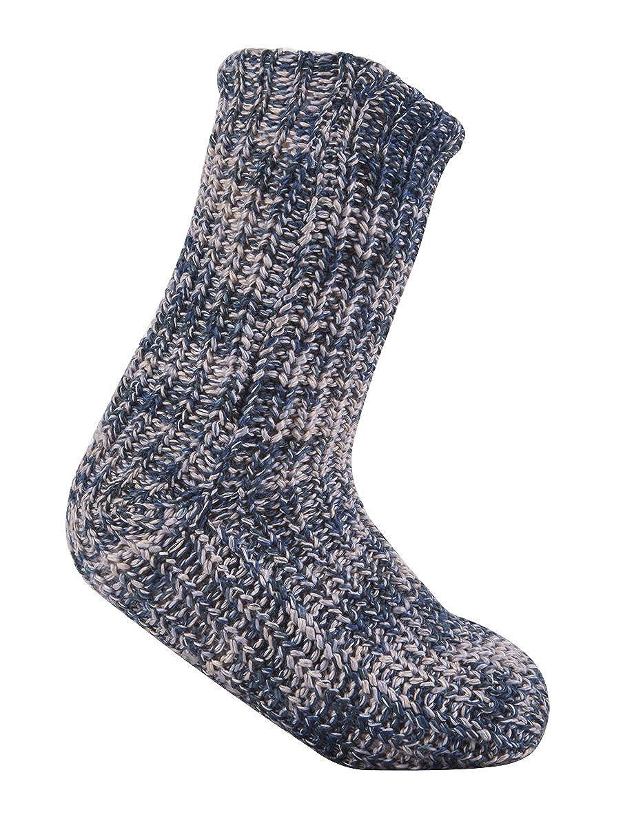 Ladies Winter Socks Thick Twist Yarn Knit Novelty Lounge Slipper Socks Grippers Xmas Gift Present Stocking Filler Secret Snata